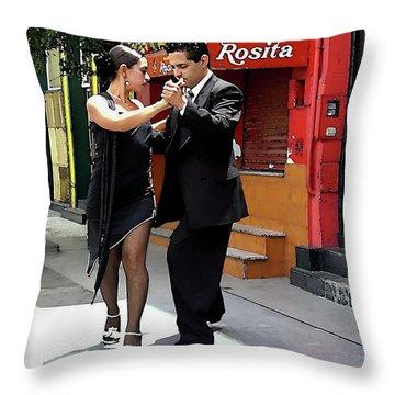 The Tango Throw Pillow by Joan  Minchak