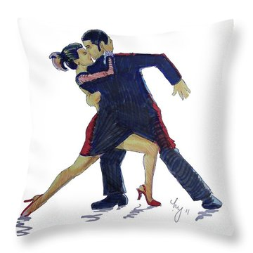 The Tango Throw Pillow