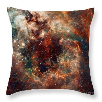The Tarantula Nebula Throw Pillow by Nicholas Burningham