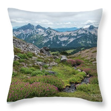 The Tatoosh Range Throw Pillow