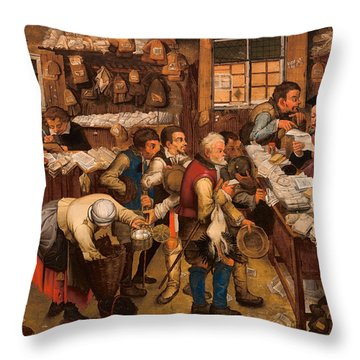 The Tax Collector's Office Throw Pillow