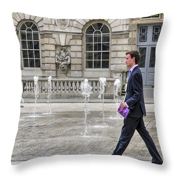 The Tax Man Throw Pillow by Keith Armstrong