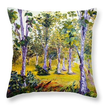The Teak Garden Throw Pillow