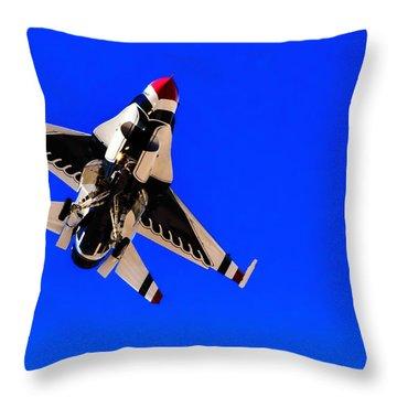 The Team Usaf Thunderbirds Throw Pillow