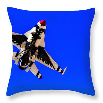 The Team Usaf Thunderbirds Throw Pillow