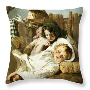 The Tease Throw Pillow by Robert Hannah