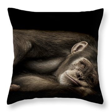 The Teenager Throw Pillow by Paul Neville