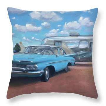 The Teepee Motel, Route 66 Throw Pillow