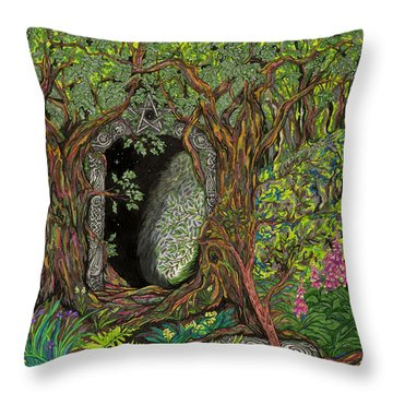 The Temple Of Math Throw Pillow