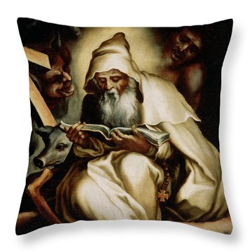 The Temptation Of Saint Anthony Throw Pillow