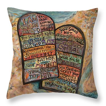 The Ten Commandments Throw Pillow