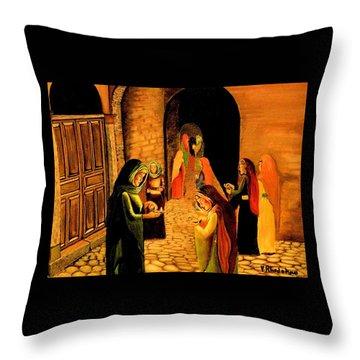 The Ten Virgins Parable Throw Pillow