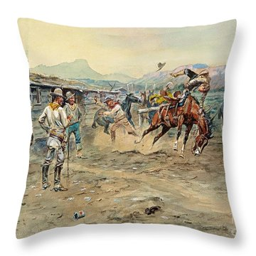 The Tenderfoot Throw Pillow