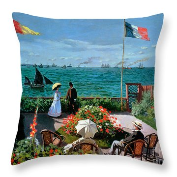 The Terrace At Sainte Adresse Throw Pillow