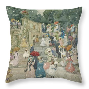 The Terrace Bridge, Central Park Throw Pillow