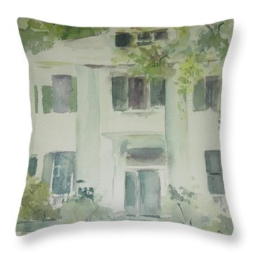 The Terry Mansion Throw Pillow by Robin Miller-Bookhout