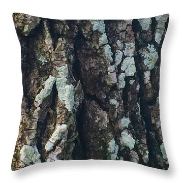 The Texture Is In The Trees1 Throw Pillow