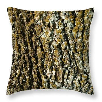 The Texture Is In The Trees2 Throw Pillow