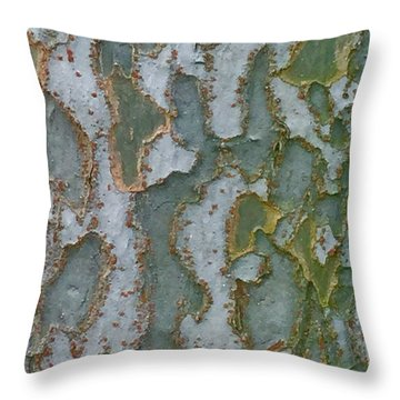 The Texture Is In The Trees3 Throw Pillow