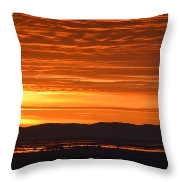 Throw Pillow featuring the photograph The Textured Sky by AJ Schibig