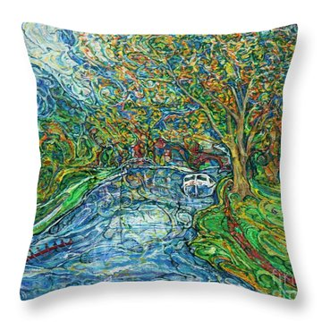 The Thames At Oxford Throw Pillow