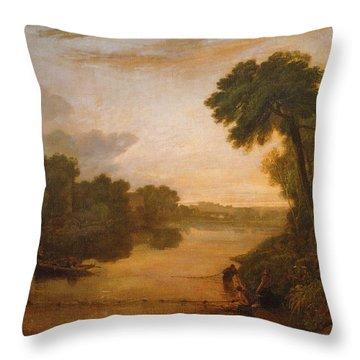 The Thames Near Windsor Throw Pillow
