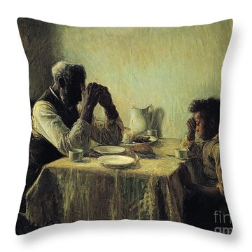 The Thankful Poor Throw Pillow