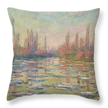 The Thaw On The Seine Throw Pillow
