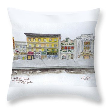Theatre's Of Harlem's 125th Street Throw Pillow by AFineLyne
