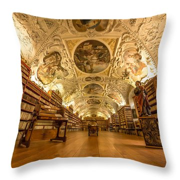 The Theological Hall Throw Pillow
