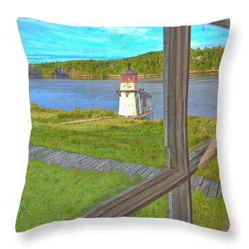 The Thin Line Between Real And Imagined Throw Pillow
