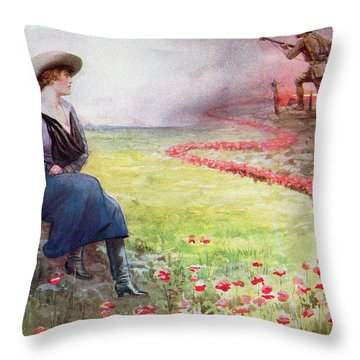 The Thin Red Line Throw Pillow