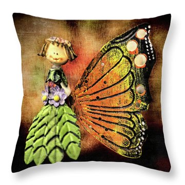 Throw Pillow featuring the photograph The Thing by Lewis Mann