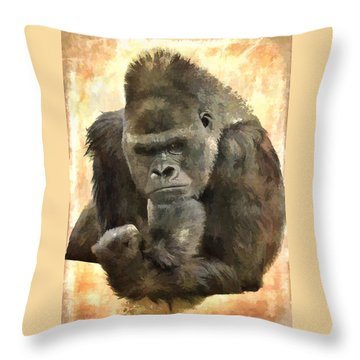 The Thinker Throw Pillow by Diane Alexander