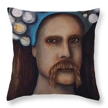 The Thinker Throw Pillow by Leah Saulnier The Painting Maniac