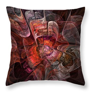 Throw Pillow featuring the digital art The Third Voice - Fractal Art by NirvanaBlues