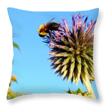 The Thistle And The Bee. Throw Pillow
