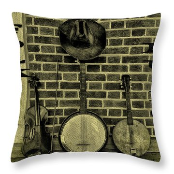 The Three Amigos - Folk Music Throw Pillow by Bill Cannon