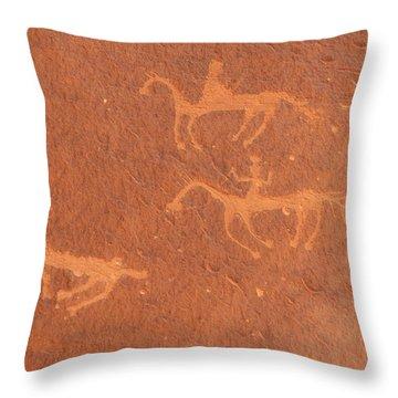 The Three Animals Throw Pillow