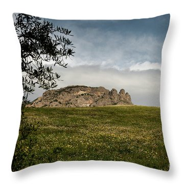 Italy, Calabria, Cimina,the Three Fingers Throw Pillow