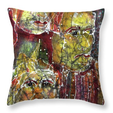 The Three Muses Throw Pillow