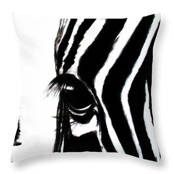 The Three Musketeers - Zebra Throw Pillow