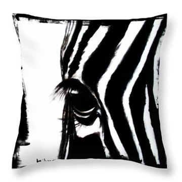 The Three Musketeers - Zebra Throw Pillow