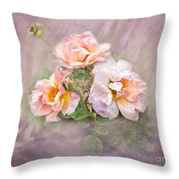Throw Pillow featuring the photograph The Three Of Us by Betty LaRue