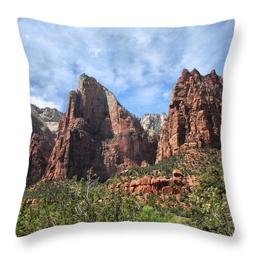 Throw Pillow featuring the photograph The Three Patriarchs by Barbara Manis