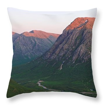 The Three Peaks Of Glencoe Throw Pillow