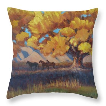 The Three Quarters Throw Pillow