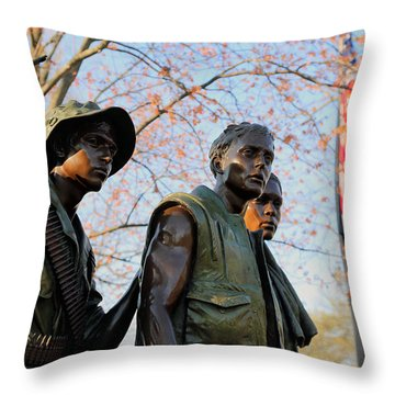 The Three Soldiers Throw Pillow
