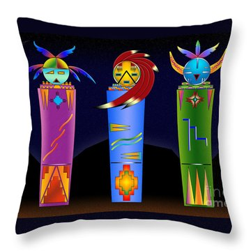 The Three Spirits Throw Pillow