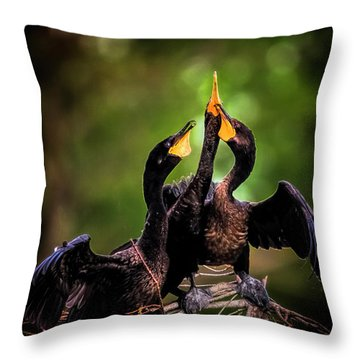 The Three Tenors Throw Pillow